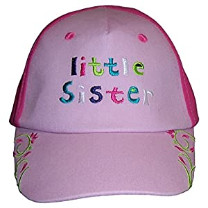 N'Ice Caps Girls 'Little Sister' 'Big Sister' Embroidered Cap