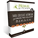 Primal Kitchen - Dark Chocolate Almond Collagen Protein Bars, 12 Grams of Protein, Paleo Approved (Pack of 6, 1.7 oz)