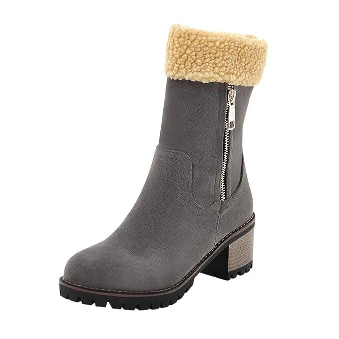 Toamen Zapatos De Invierno De Las Mujeres Botas CáLidas del RebañO Botas De Nieve Martin BotíN Corto: Amazon.es: Ropa y accesorios