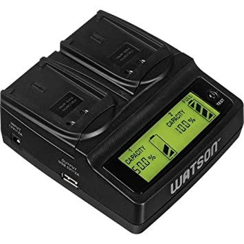 Amazon.com: Watson Duo - Cargador LCD con 2 placas de ...