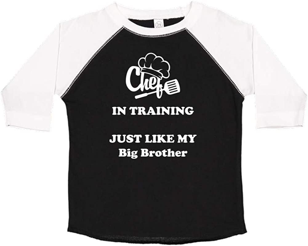 Chef in Training Just Like My Big Brother Toddler//Kids Raglan T-Shirt