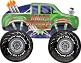 31 Inch Green Happy Birthday Monster Truck Foil Balloon