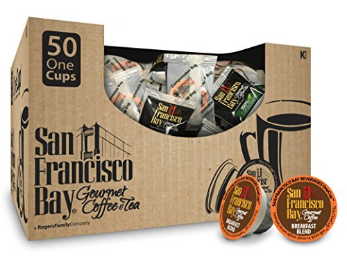 San Francisco Bay- Mediation OneCups- Breakfast Blend, 50 Count- SINGLE WRAP- Single Serve Coffee, Compatible with Keurig K-cup Brewers