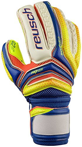 Reusch Soccer Serathor Supreme G2 Ortho Tec Goalkeeper Gloves, Yellow/Blue, 8 (Ortho Tec Glove)