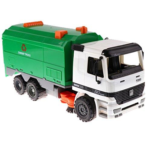Baoblaze 1/22スケール プラスチック製 エンジニアリング車両モデル 玩具 キッズおもちゃ ギフト ストリートスイーパー