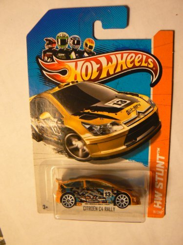 Citroen C4 Rally '13 Hot Wheels 91/250 (Yellow) Vehicle by Hot Wheels