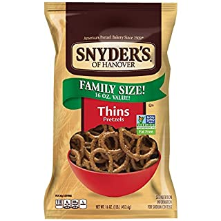 Snyder's of Hanover Pretzels, Thins, 16 Ounce, 12 Pack
