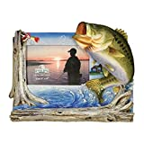 Rivers Edge Bass Fishing Picture Frame - Holds 4' X 6' photo