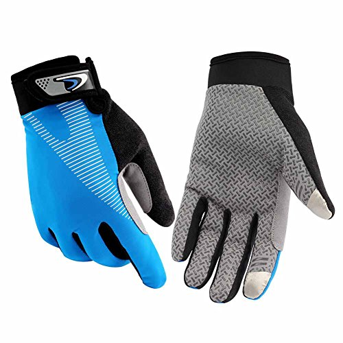 HENDGO Cycling Motorcycle Gloves Lce Silk High Elastic Breathable Silicone Non-Slip, Sunscreen, Breathable, Anti-Static.Outdoor Sports Gloves, Full Finger And Half finger