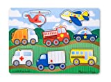 Toys : Melissa & Doug Vehicles Wooden Peg Puzzle (8 pcs)