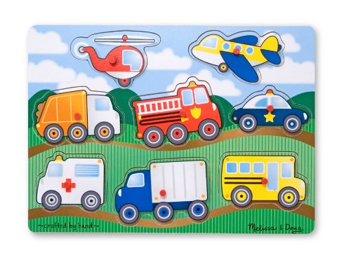 Melissa & Doug Vehicles Wooden Peg Puzzle (8 (Melissa And Doug Sale)