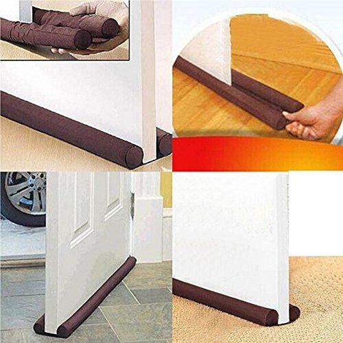 Tope protector para puerta, detiene corrientes de aire, ahorra energía, color café, para accesorios de puerta