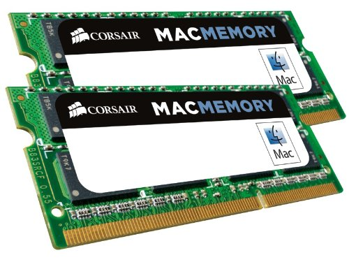 Corsair Apple Certified 16 GB (2x8 GB) DDR3 1600MHz (PC3 12800) Laptop Memory 1.35V by Corsair