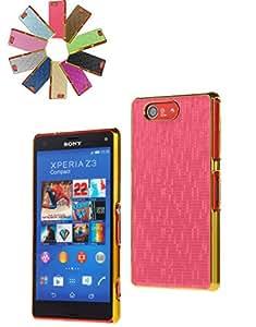 Bralexx Estuche para teléfono inteligente carcasa cubierta funda compatible para Apple HTC Sony Samsung - Plástico, Rosado, Sony Xperia Z3 Compact