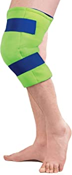 Polar Ice Large Knee Wrap Cold Therapy Ice Pack with Adjustable Hook& Loop Closure (Color May Vary)