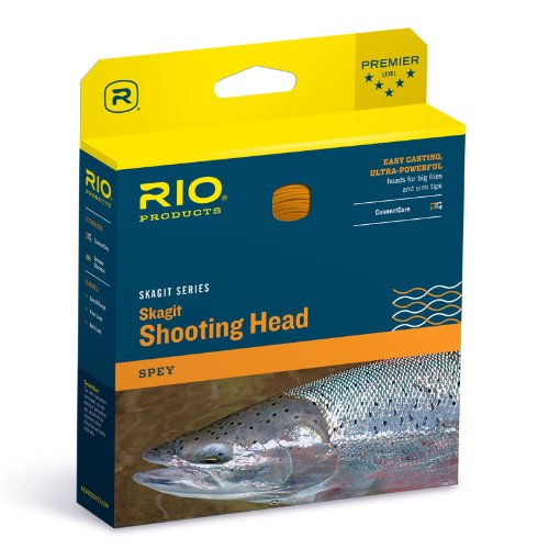 Skagit Shooting Head - Rio Fly Fishing Fly Line Skagit Maxi-Head 550gr Fishing Line, Teal/Orange