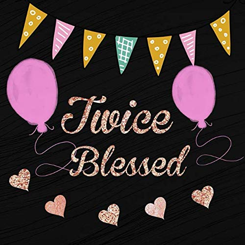Twice Blessed: Double Blessings Baby Shower Message Book, Memory Keepsake With Formatted Lined Pages, Guest List, Games And Gift Log For Family ... Wishes And Comments (Baby Shower Guest Book)