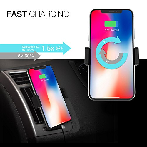 Patchworks Wireless Charging Car Mount Phone Holder Qi