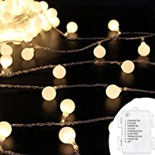 Ball Led String Lights,RcStarry(TM) Battery Operated 13Feet 40 LED Globe String Lights With Timer,Waterproof Starry Lights for outdoor,Home,Garden,Patio,Wedding,Party,Christmas,Warm White