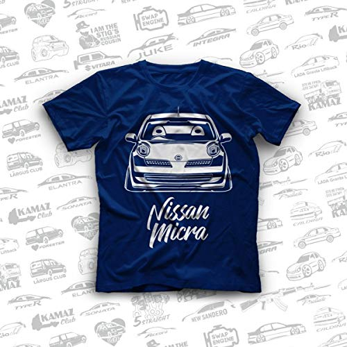 (Nissan Micra K12 / Nissan March K12 Original T-Shirts 100% Cotton Free Shipping)