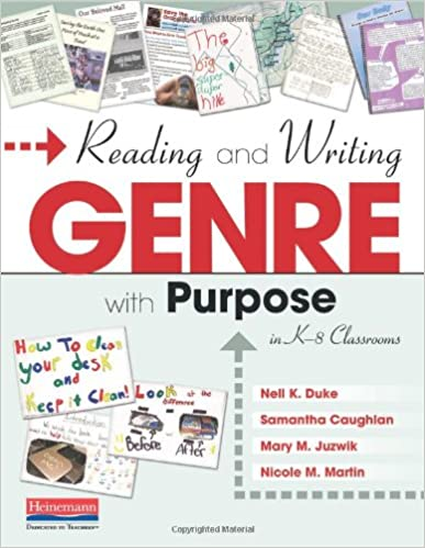 Amazon Reading And Writing Genre With Purpose In K 8 Classrooms