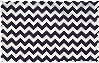 product image for SheetWorld Navy Chevron Zigzag Fabric - By The Yard