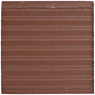 "SomerTile FGA6KRD Carriere Quarry Floor and Wall Tile, 5.875"" x 5.875"", Red, 23 Piece"