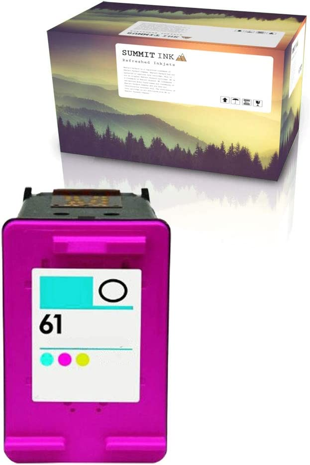 Summit Ink Remanufactured Ink Cartridge Replacement for HP 61 for Deskjet 1000 1010 1050 2050 2510 2545 3000 3050 3510 Officejet 2620 4630 4635 Envy 4500 4505 5530 5535 (1 Color)