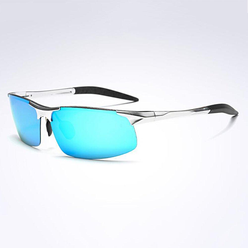 HONEY Personalisierte Sport polarisierte Sonnenbrille - High-End-Luftfahrt Aluminium Magnesium Frame - Herren Reitbrille ( Farbe : 6 ) pWwxhKENEH