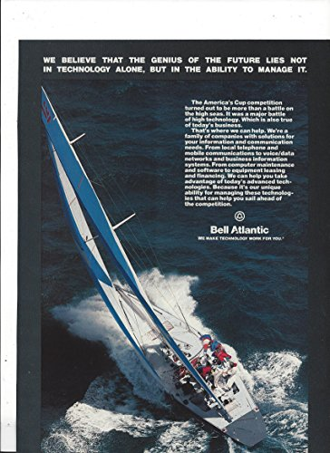 magazine-ad-for-bell-atlantic-americas-cup-challenge-racing-sailboat