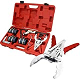 Engine Piston Ring Service Compressor Tool Set Kit Auto Truck Cleaning Service Piston ring compressor with ratchet key:(for installing piston ring)