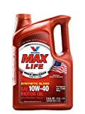 Valvoline High Mileage with MaxLife Technology 10W-40 Synthetic Blend Motor Oil - 5qt (782482)