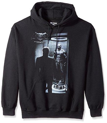 Trevco Men's Batman v Superman Hoodie Sweatshirt, Suit Black, Medium -