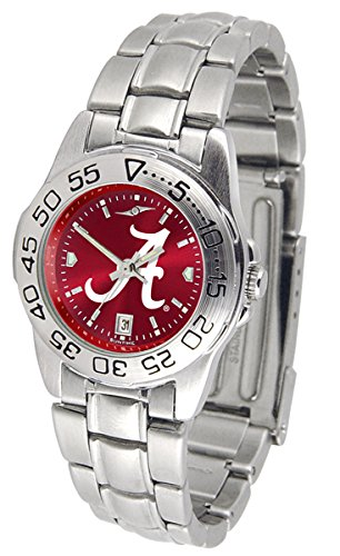 Alabama Crimson Tide Sport Steel AnoChrome Women's Watch Alabama Crimson Tide Ladies Watch