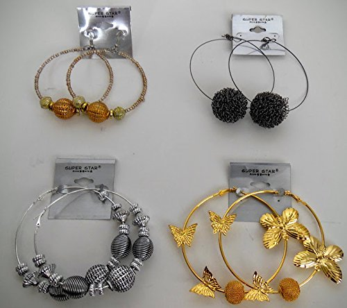 [100 Close out Large Style Costume Earring and Rings Assorted for Variety] (Costumes Jewelry Prices)