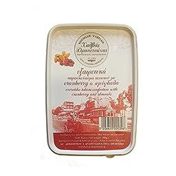 Greek Halva Drapetsonas With Almonds Whole Grain Tahini granberry & Almonds 450 Gr