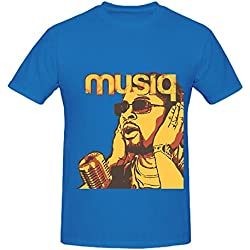 Musiq Soulchild Juslisen Greatest Hits Album Mens O Neck Casual Tee Shirts Blue