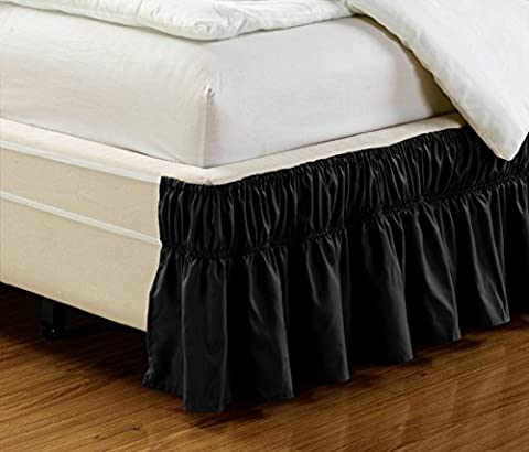 Fancy Collection Twin- Full Easy Fit Bed Ruffle wrap Around Elastic Bed Skirt With 17
