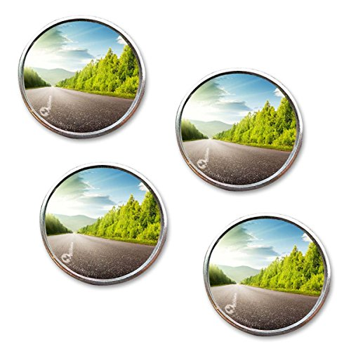 Zone Tech Rearview Blind Sport Mirrors - 4-Pack Premium Quality 2 Inch Stick-On Aluminum Border Thin Car Blind Sport - How Glasses Fix To Much Arm