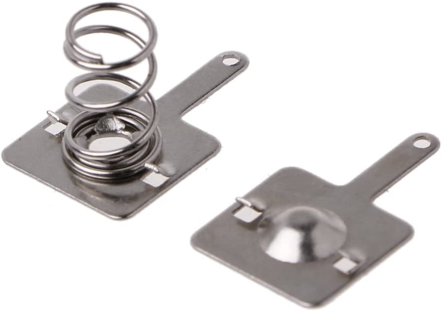 MIKI-Z 50 Paires de plaques de Ressort de Batterie en m/étal pour Contact n/égatif Positif AA AAA