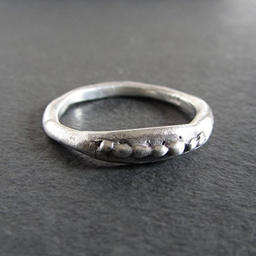 d4b71d0ce0c Image Unavailable. Image not available for. Color: Rustic organic stacking  ring in sterling silver/Artisan jewelry ...
