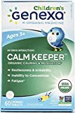 #5: Genexa Homeopathic Calming Aid Tablets for Children: Natural, Certified Organic, Physician Formulated, Non-GMO. Relaxation, Restlessness & Concentration Supplement for Children (60 Chewable Tablets)