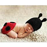 Zonegear Baby Photo Prop Outfit Newborn Knit Crochet Photopraphy Ladybug Clothes