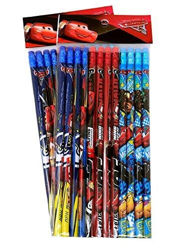 Disney Cars Wood Pencils Pack, 2 packs of 12 ()