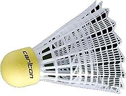 Carlton C100 Medium Speed Junior Synthetic Badminton Shuttlecocks Tube Of 6
