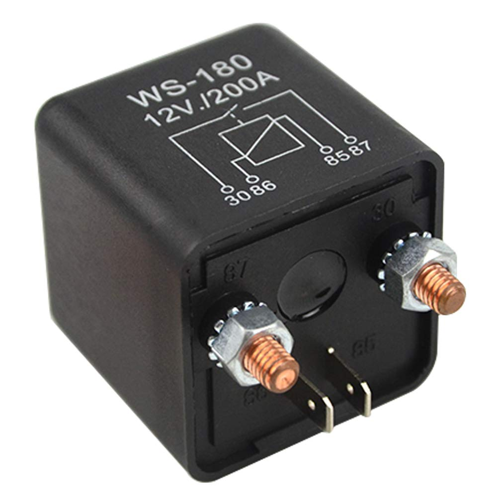 WMYCONGCONG 12V 200A Split Charge Relay Switch 4 Terminal Relays for Car Truck Motor Automotive Boat
