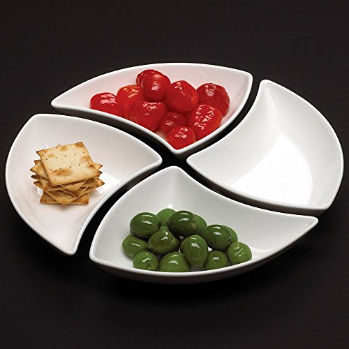 Villeroy & Boch New Wave 4-Piece Modern Chic Glazed White Design 7 oz. Appetizer Bowl, Great For Appetizers, Small Salads or