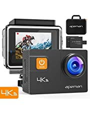 APEMAN Action CAM A80, 4 K 20 MP WiFi Impermeable 40 M cámara Sumergible Digital videocámara, Funda para Transporte con Dos Pilas