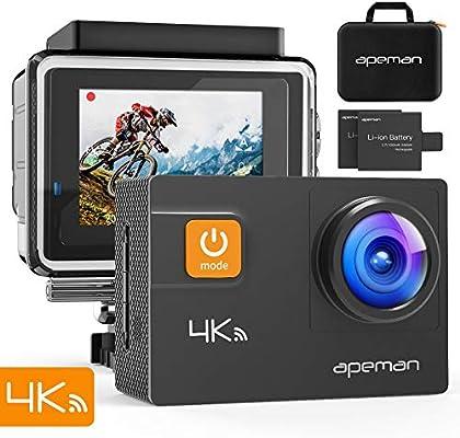 APEMAN A80 Cámara Deportiva 4K WiFi 20MP Cámara de Video Acuática ...