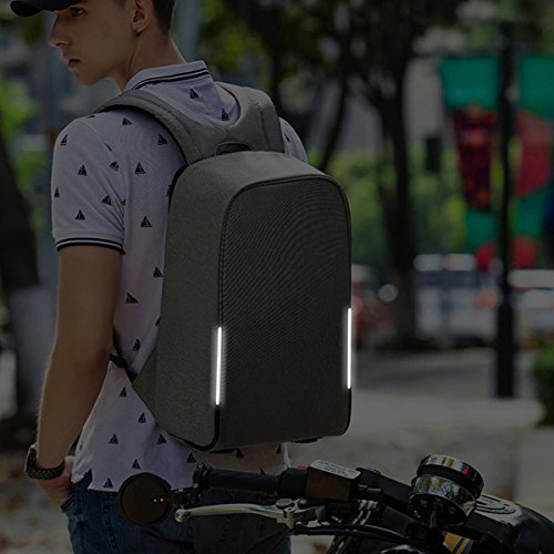 1101ea8da8 KOPACK Waterproof Anti Theft Laptop Backpack USB Charging Port Business  Scan Smart with Rain Cover 15.6 Inch Gray Black Kp626 - Buy Online in Oman.